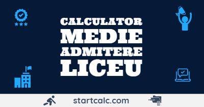 Calculator Medie Admitere Liceu