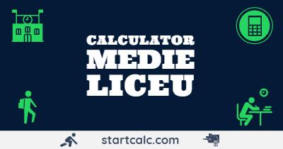 CALCULATOR Medie Liceu | Medie Generala Semestriala Anuala | STARTCALC